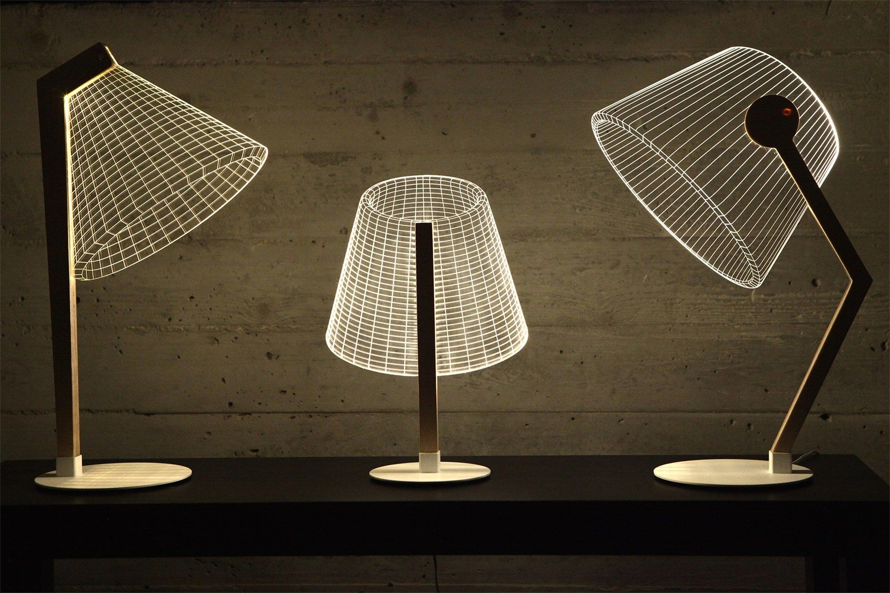 3D Tischleuchte Plexiglas-Bulbing