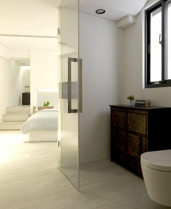 Badezimmer Schlafzimmer Kommode Einbaustrahler Treppen Koffer Weiß schlicht modern-Luxus Designer Möbel