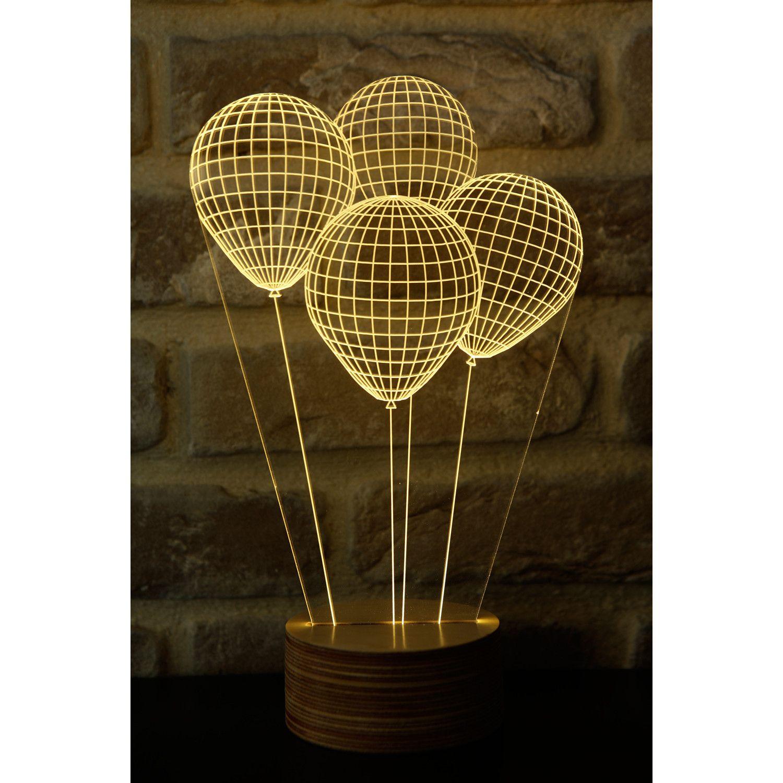 Ballonen Tischleuchte 3D Plexiglas-Bulbing