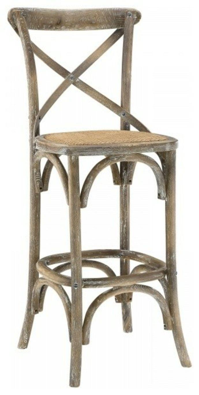 Barstuhl mit Rückenlehne aus Holz Vintage-Barhocker Barstuhl Design