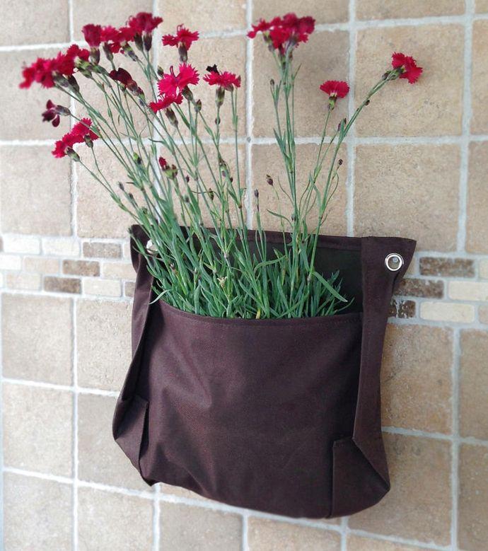 Beutel Pflanzensack Textil wasserdicht Blumen Küche Wand-Pflanzkübel
