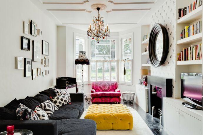 Buntes eklektisches Zimmer-Zeitgenössische Kronleuchter fürs Wohnzimmer