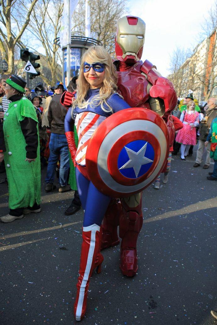 Captain America Kostüm-Karneval