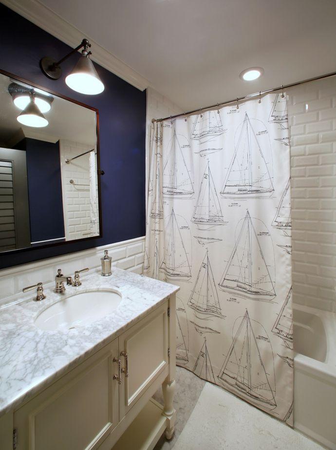 Badezimmer Makeover Mithilfe Eines Duschvorhangs