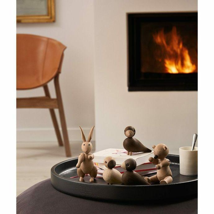 Einbaukamin Holzfiguren Behaglichkeit-neue Romantik