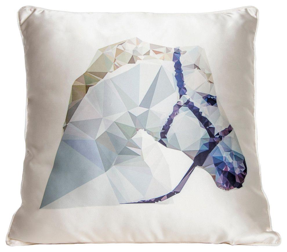 Eklektisch modern Deko Kissen Tierprint Kissen Blau Weiß-Wohnideen