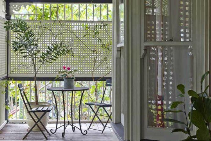 Eklektisch und stilvoll-Gestaltung der Veranda