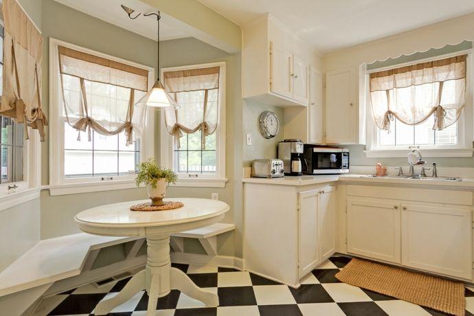 Elegante Gardinen-Küchengardinen