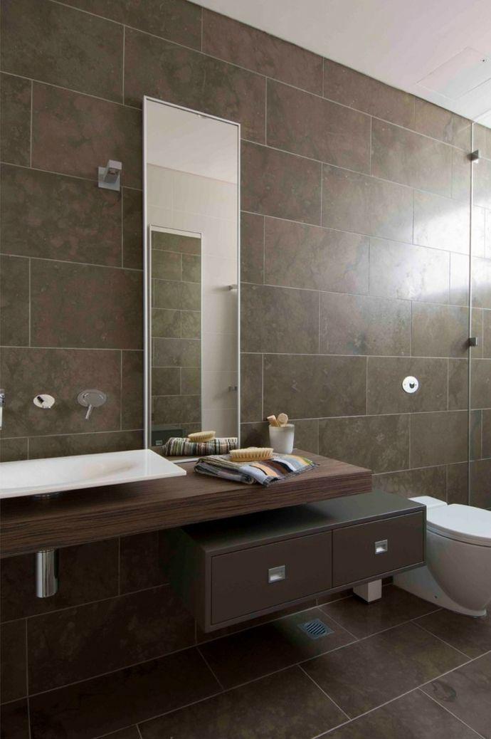 Aktuelle badezimmer trends - Badezimmermobel dunkelbraun ...