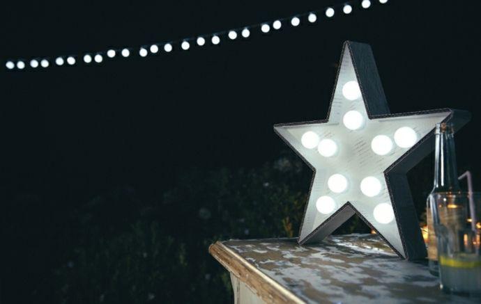 Garten Deko Stern Licht Fest