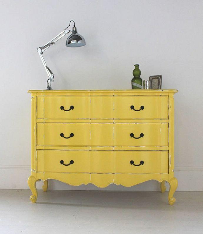 Gelbe Kommode im französischen Stil-Kommoden