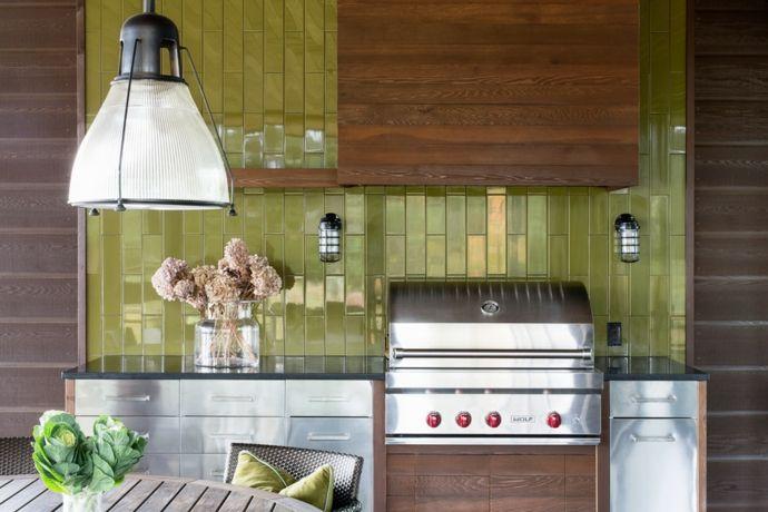 Gestaltung der Küche im Ferienhaus-Gestaltung im maritimen Einrichtungsstil