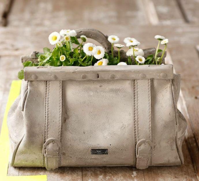 Gladstone Tasche Beton Blumen Pflanzen Geschenk Idee-Pflanzkübel