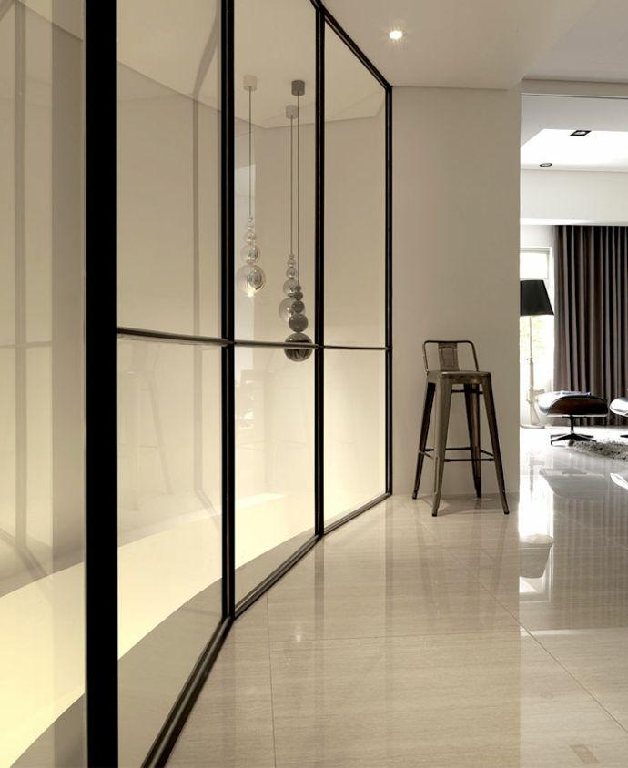 Hängeleuchte Einbaustrahler Beleuchtung Glaswand Dekoration Barhocker Metall modern-Luxus Designer Möbel