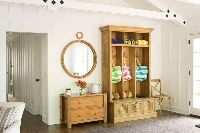 Hütte Ferienhaus Flurmöbel aus Holz-Flur Einrichtung