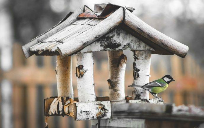 Handgemacht DIY aus Holz-Vogelhäuschen