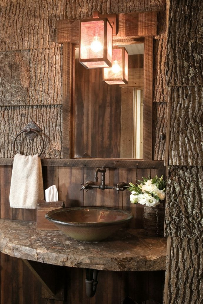 Ein sprung in die vergangenheit mit dem rustikalen stil for How to make vintage bathroom designs for your homes
