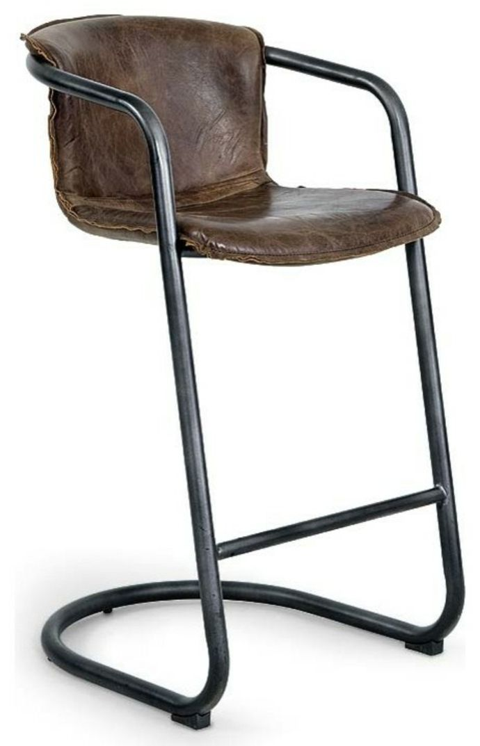 Vintage Industrial Metal Bar Stools