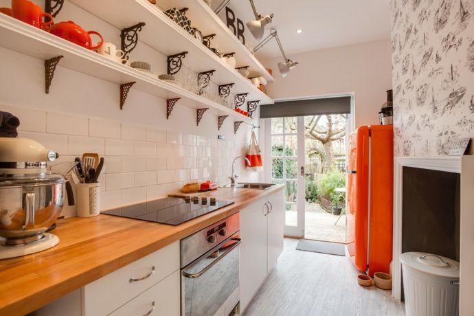 Küche Küchendesign Aufbewahrung warme Farben modern