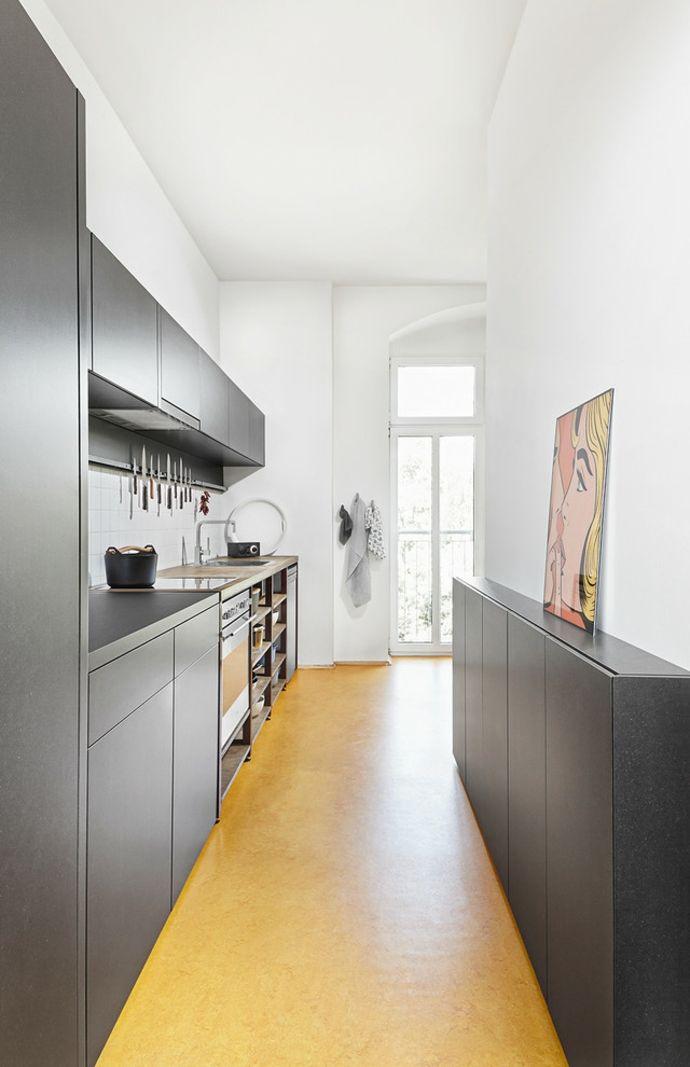 Küche Küchendesign Grau Weiß modern