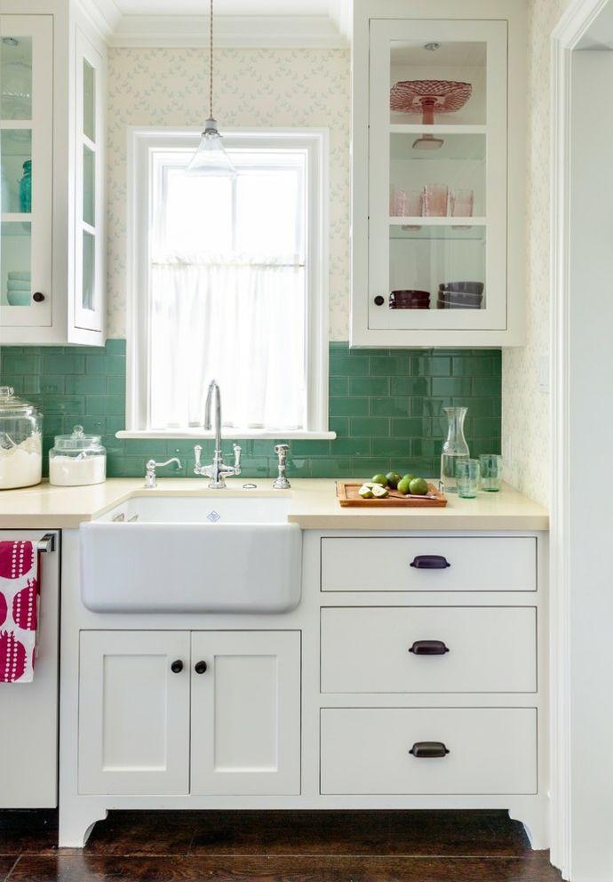 Küche Waschtisch transparente Vorhänge-Küchengardinen