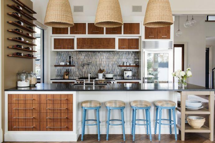 Küche im Vintage Stil-Gestaltung im maritimen Einrichtungsstil