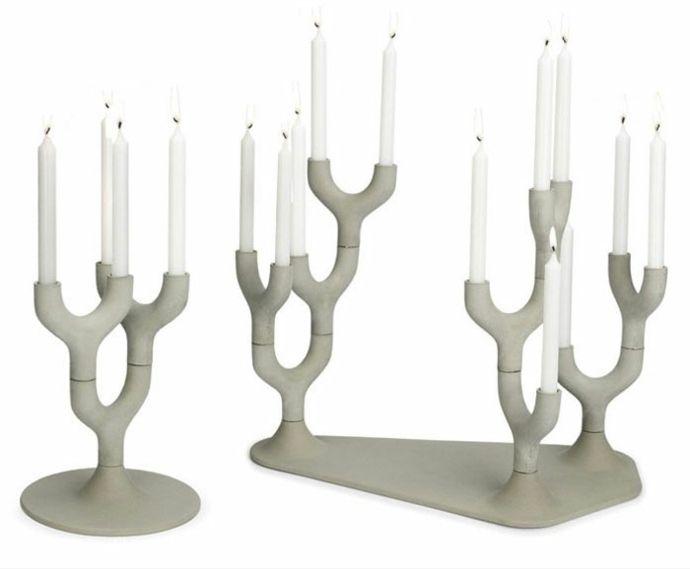 Kerzen Kerzenhalter Weiß-Dekoration aus Beton