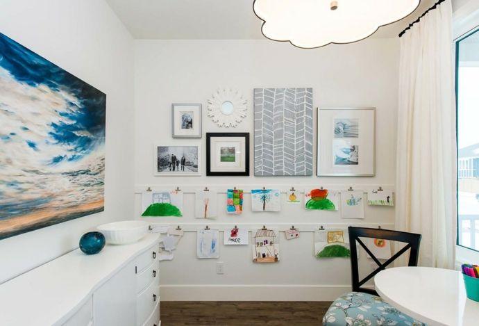 Kinderbilder präsentieren-Kinderzimmer ideen