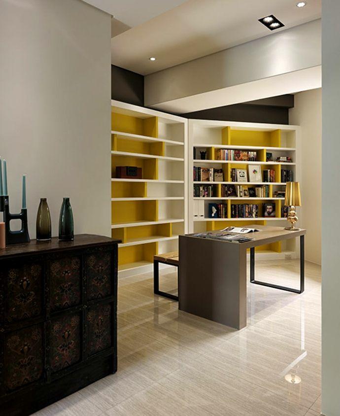 Kommode Kerzenhalter Dekoration Holztisch Einbaustrahler Gelb Weiß-Luxus Designer Möbel