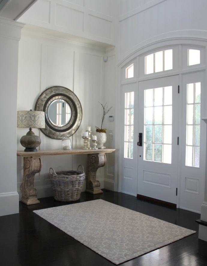 Konsolentisch runder Wandspiegel eklektisch glamourös antik-Flur Einrichtung