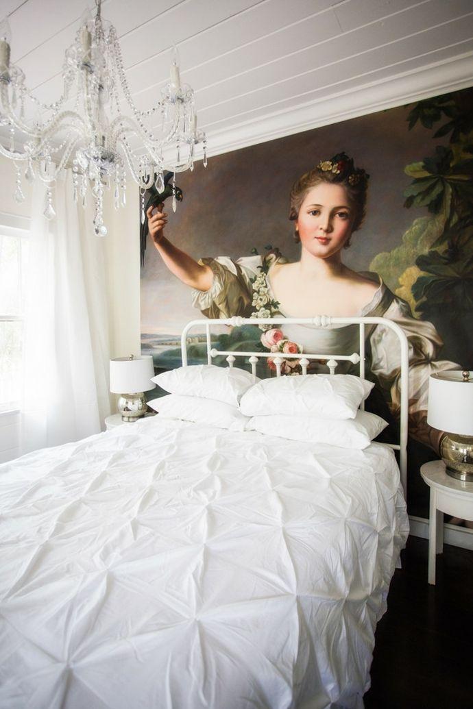 Kronleuchter Bett Metallrahmen Tischleuchte Gemälde Wand-Shabby Chic Einrichtung