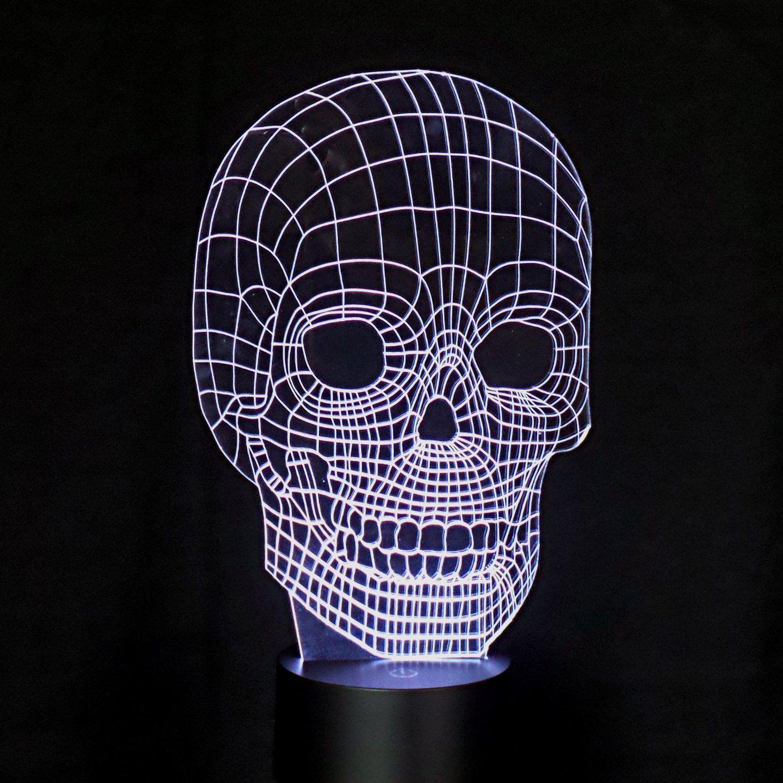 LED 3D Belecuhtung Plexiglas Skull-Bulbing