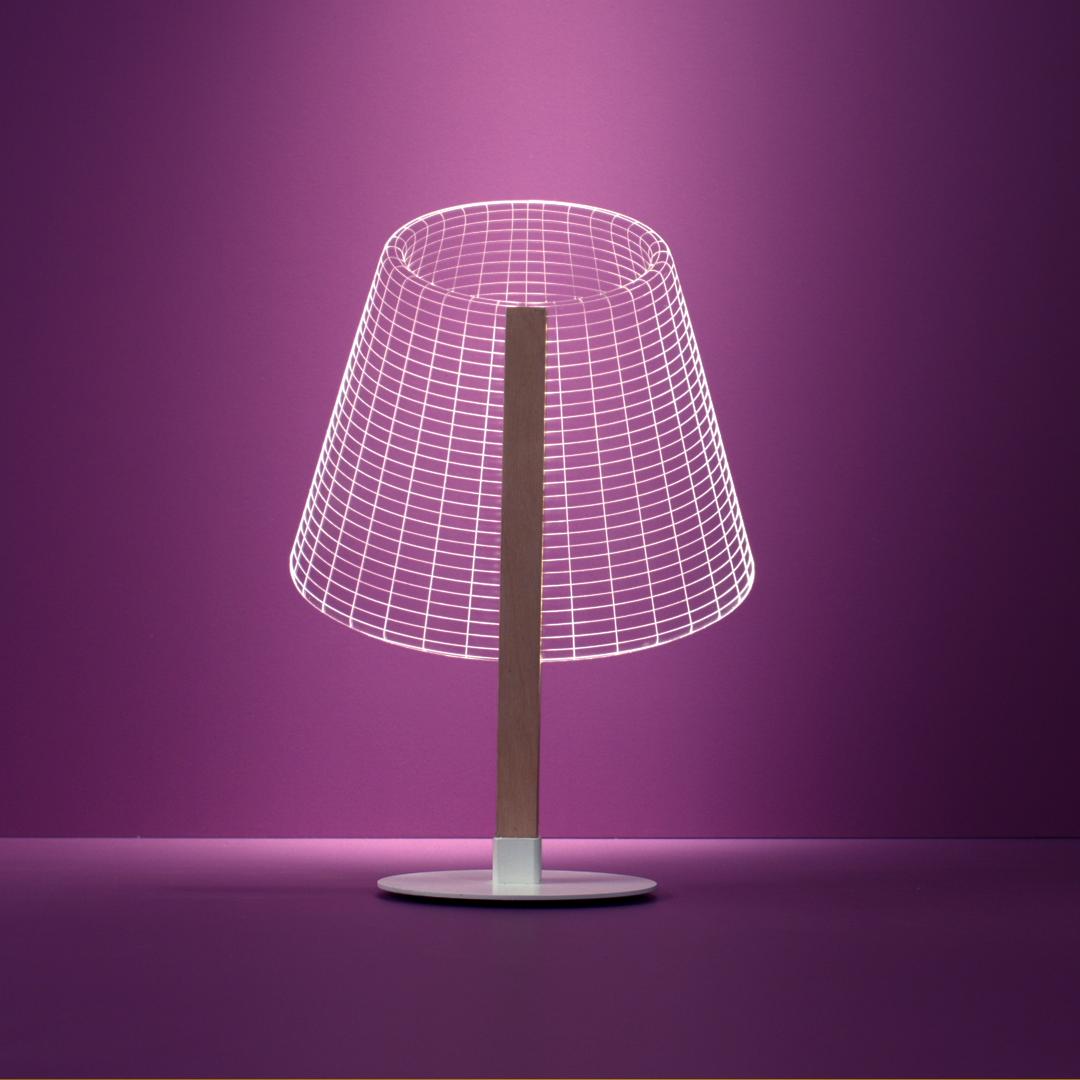LED Beleuchtung Tischleuchte 3D-Bulbing