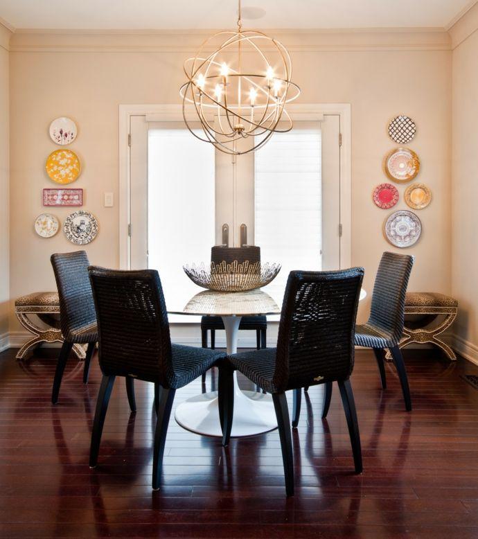 Luster Sphäre und Kerzenform-Zeitgenössische Kronleuchter fürs Wohnzimmer