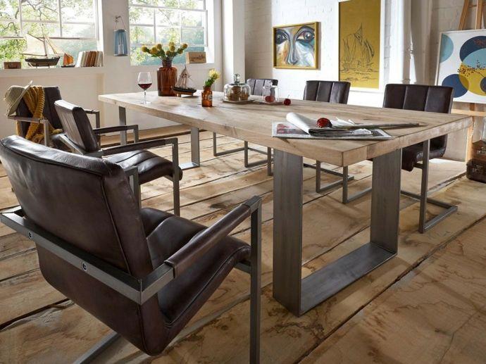 Massivholz Möbel Esstisch rustikal-Massivmöbel