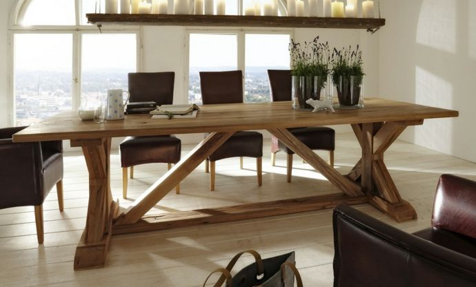 Massivholzmöbel Konstruktion Platte Esszimmer-Massivmöbel