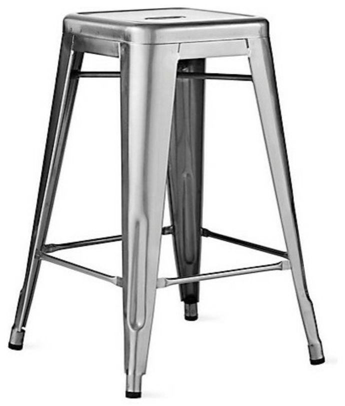 Mid Century Barhocker ohne Rückenlehne aus Metall-Barhocker Barstuhl Design