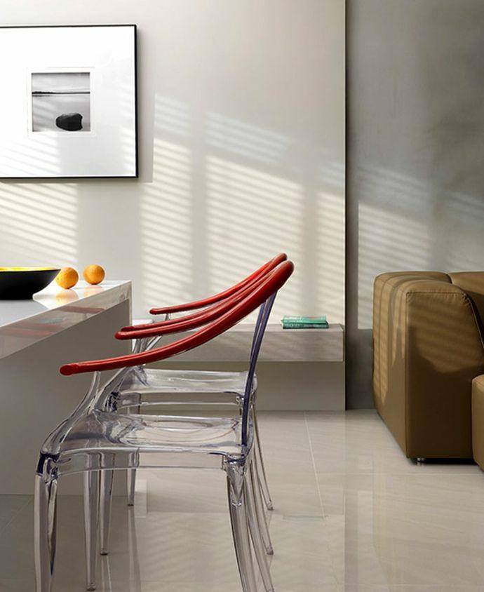 Modern Stühle Rot Bild Weiß Ledersofa Esszimmer Esstisch-Luxus Designer Möbel