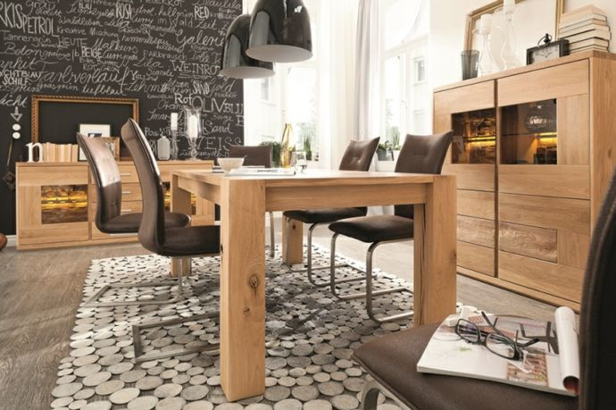 Modern Wohnzimmer im Landhausstil Massivholzmoebel-Massivmöbel