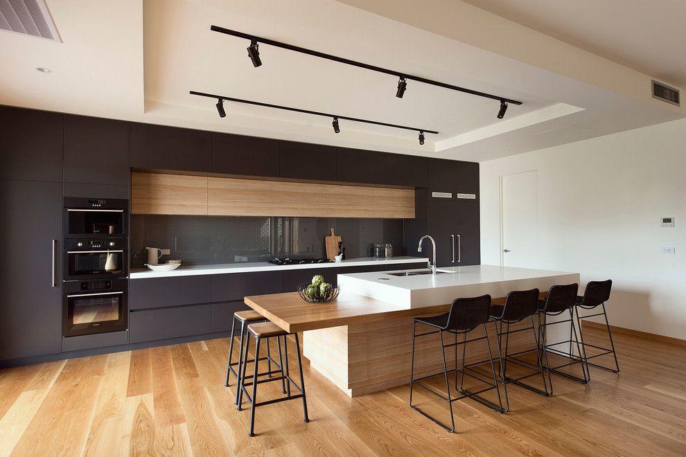 Moderne Küche Holzfurnier -schöne moderne küchen