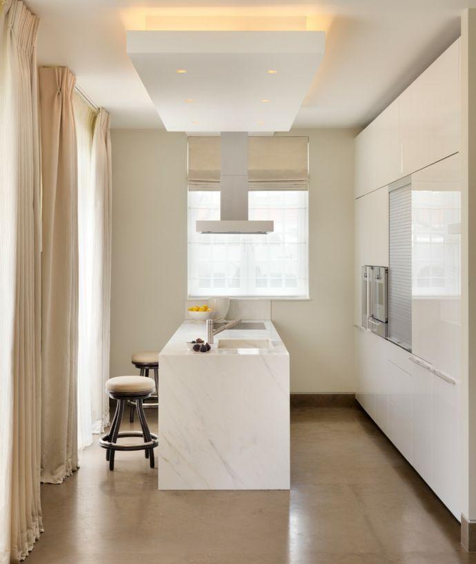 Moderne Küche Marmor-Küchengardinen