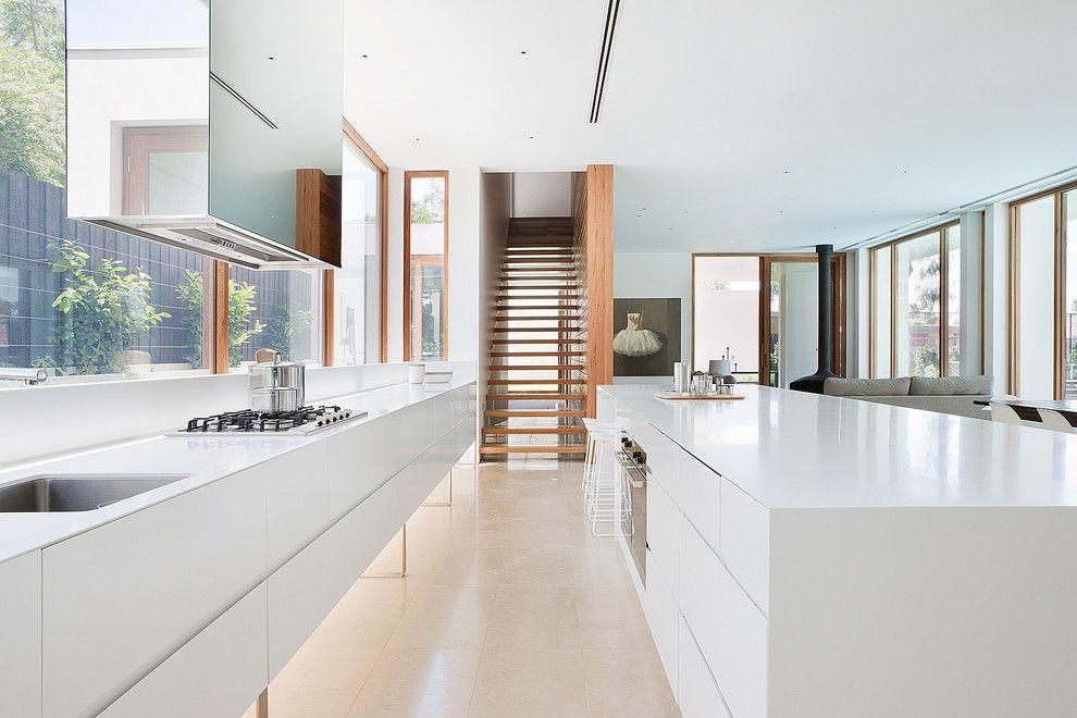Moderne Küche in Weiß-schöne moderne küchen