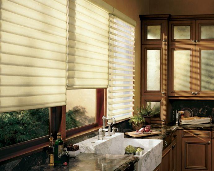 Moderne Rollos aus Polyester-Küchengardinen