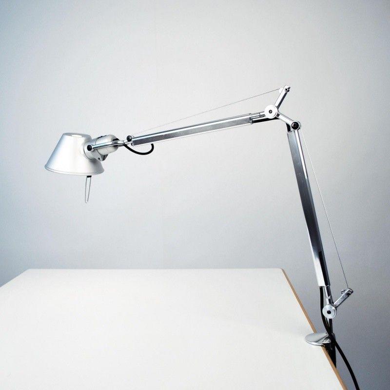 Originell elegant schlank Arbeitstischleuchte Klemmfuß Metall-Moderne Lampen