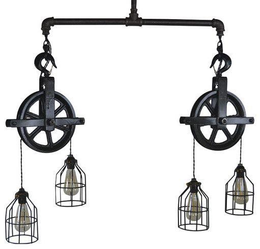Pendelleuchte Glühbirne Seilzubehör-Industriedesign Hängeleuchte
