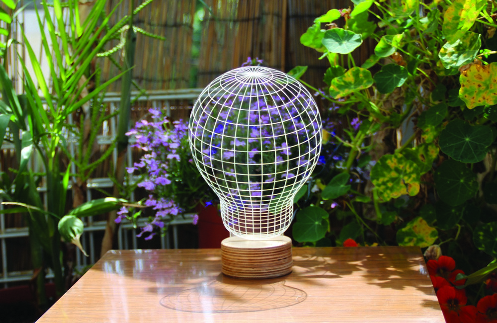 Plexiglas 3D Beleuchtung Glühbirne-Bulbing