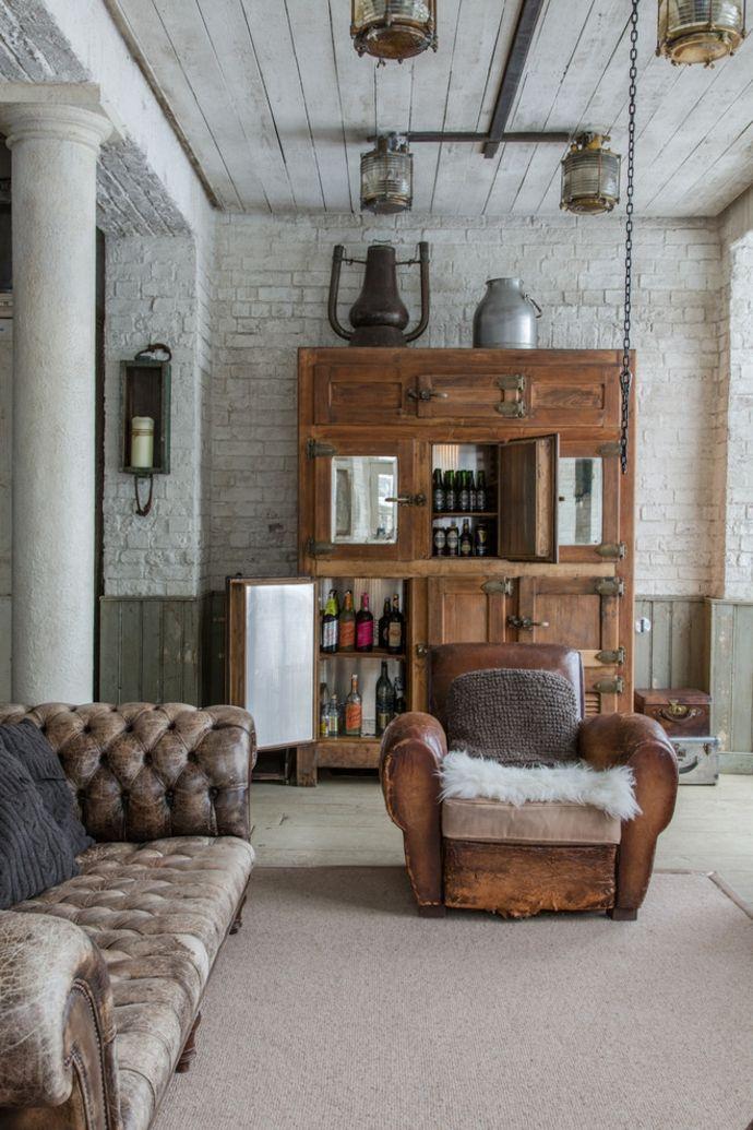 Rustikal industrieller Stil veraltet Chesterfield Sofa-Sitzmöbel