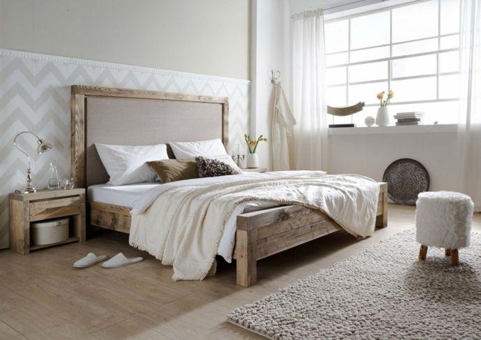 Schlafzimmer Massivholz Bett-Massivmöbel