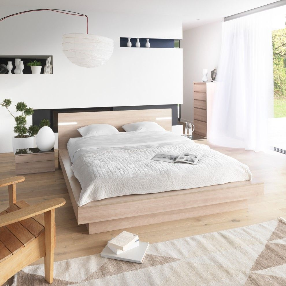 Schlafzimmermöbel masssiv Holz -schlafzimmer ideen