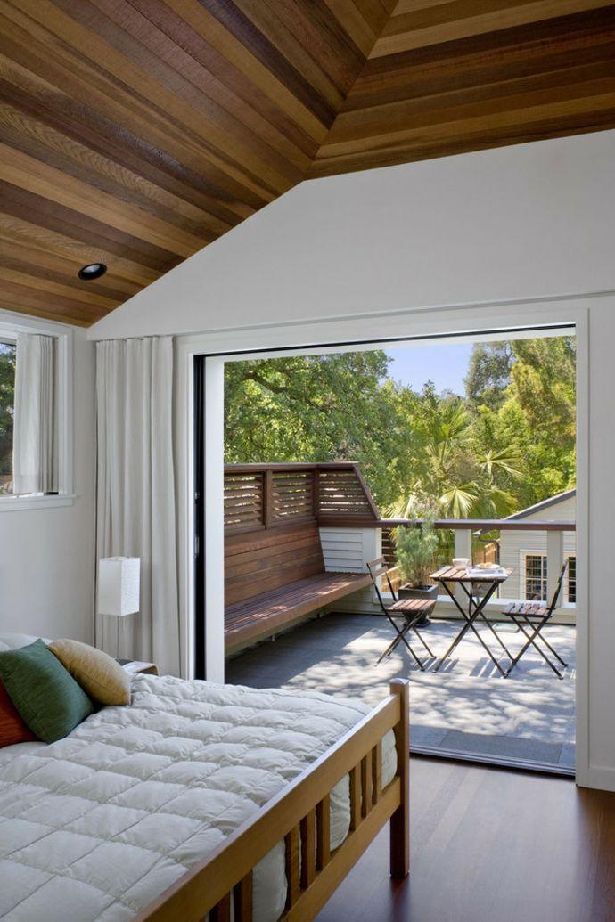 Sitzbank auf der Terrasse-Gestaltung der Veranda